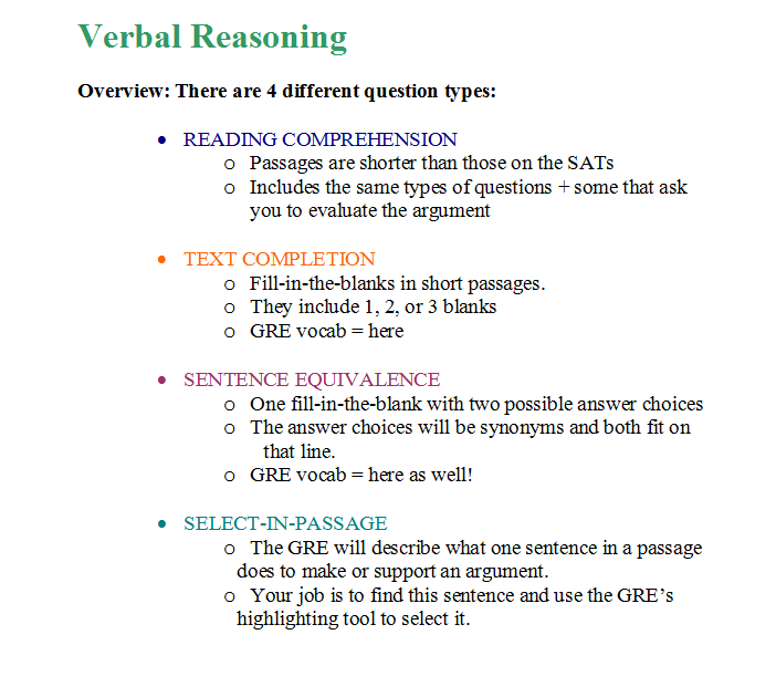 gre verbal questions Practice questions with answers in gre math - the quant section, and gre verbal topgre conducts regular intensive weekend classes for gre at chennai, india and offers online classes for gre.