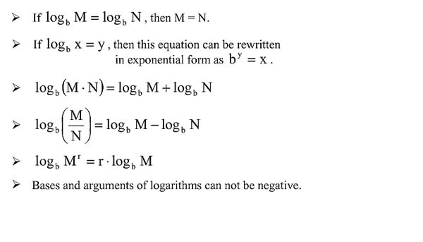 Solving Logarithmic Equations – Logarithmic Equations Worksheet