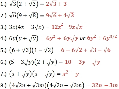 Multiply Square Roots